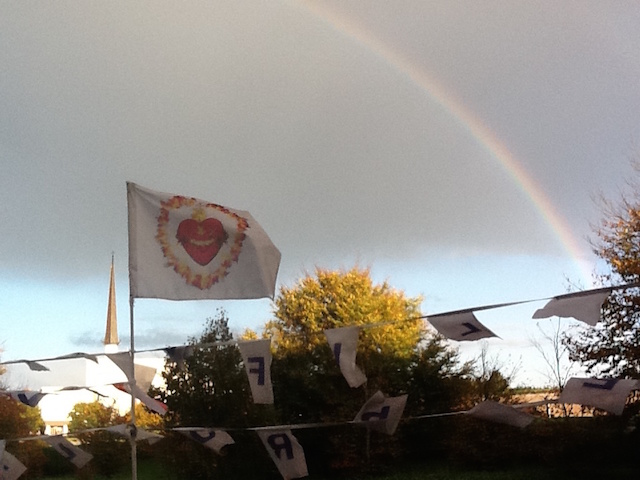 Rainbow over HLI Center in Knock
